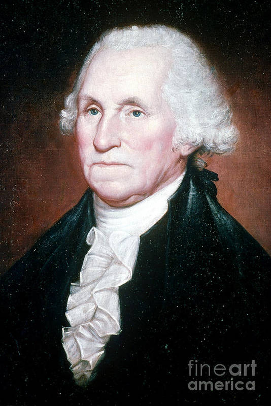 History Poster featuring the photograph George Washington, 1st American by Photo Researchers