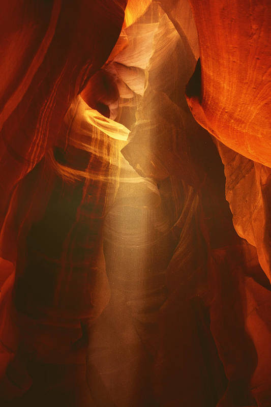 Southwest Poster featuring the photograph Pillars Of Light - Antelope Canyon Az by Christine Till