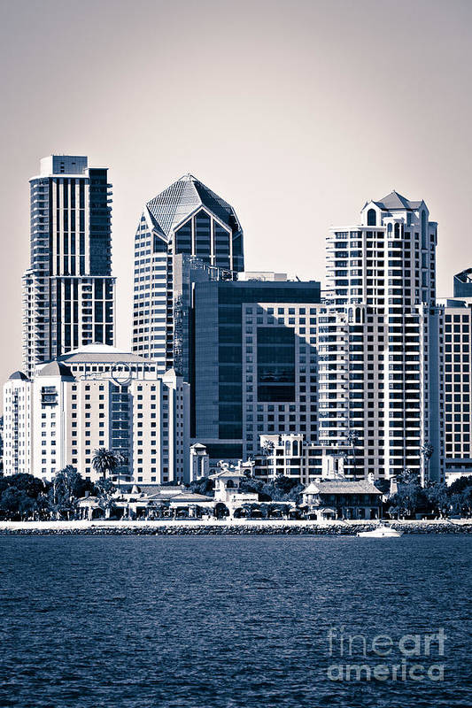 2012 Poster featuring the photograph San Diego Skyline by Paul Velgos