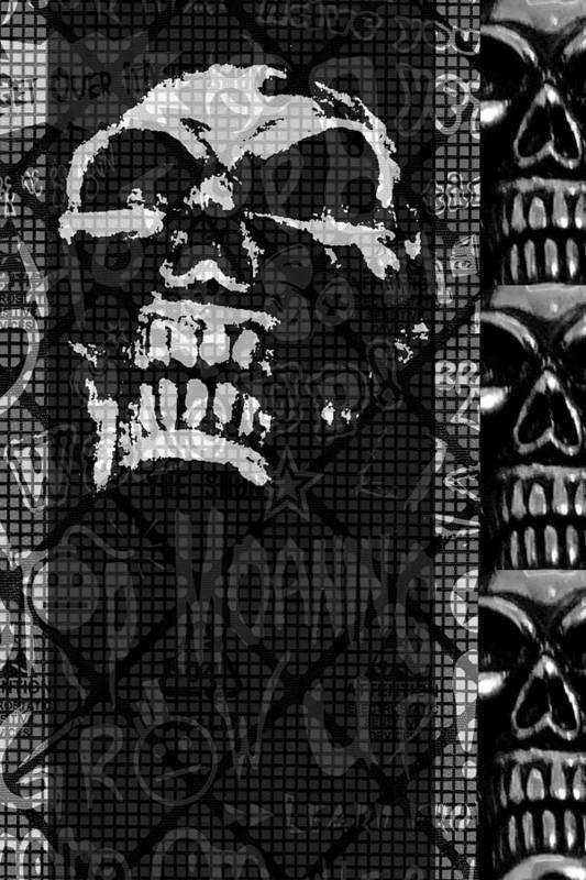 Skull Poster featuring the digital art Skull Montage by Roseanne Jones