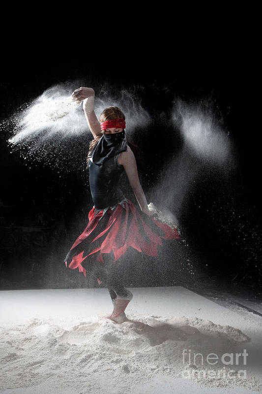 Dancing Poster featuring the photograph Flour Dancer Series by Cindy Singleton