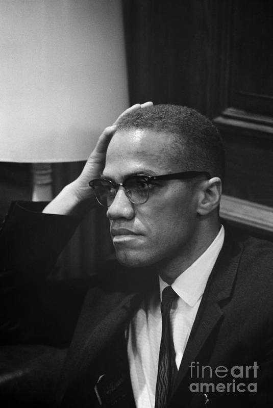 1964 Poster featuring the photograph Malcolm X (1925-1965) by Granger