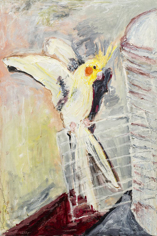 Bird Poster featuring the painting Spicy by Iris Gill