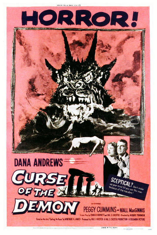 1950s Poster Art Poster featuring the photograph Night Of The Demon, Aka Curse Of The by Everett