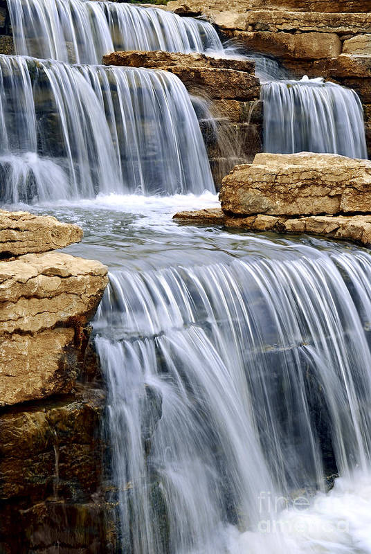 Waterfall Poster featuring the photograph Waterfall by Elena Elisseeva