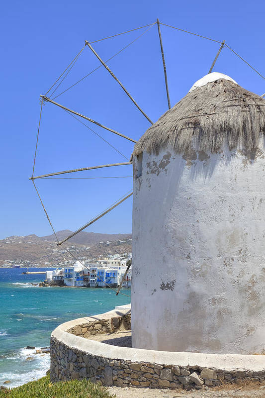 Windmill Poster featuring the photograph Mykonos by Joana Kruse