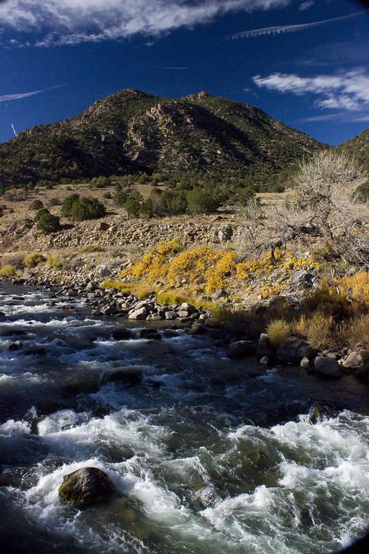 River Poster featuring the photograph Arkansas River Autumn by Ellen Heaverlo
