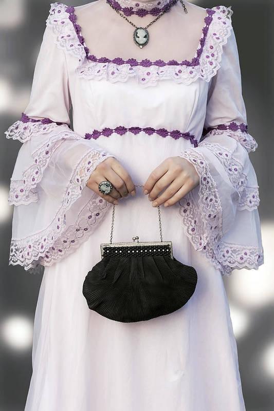 Woman Poster featuring the photograph Black Handbag by Joana Kruse