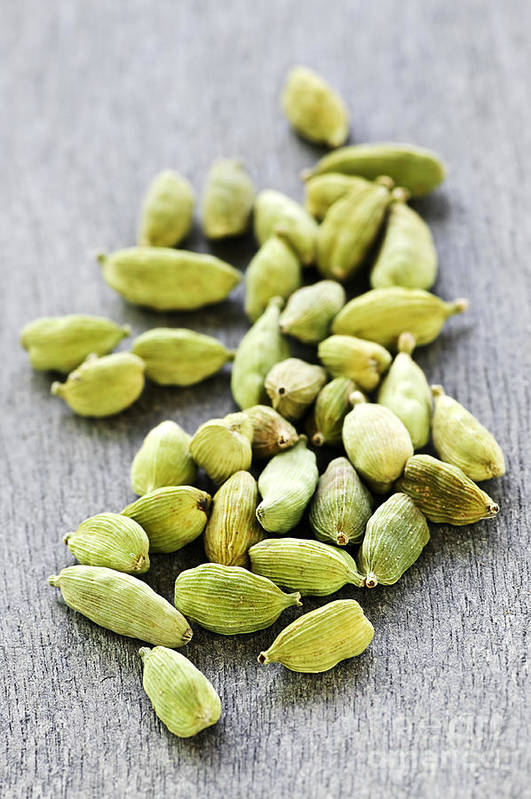 Cardamom Poster featuring the photograph Cardamom Seed Pods by Elena Elisseeva