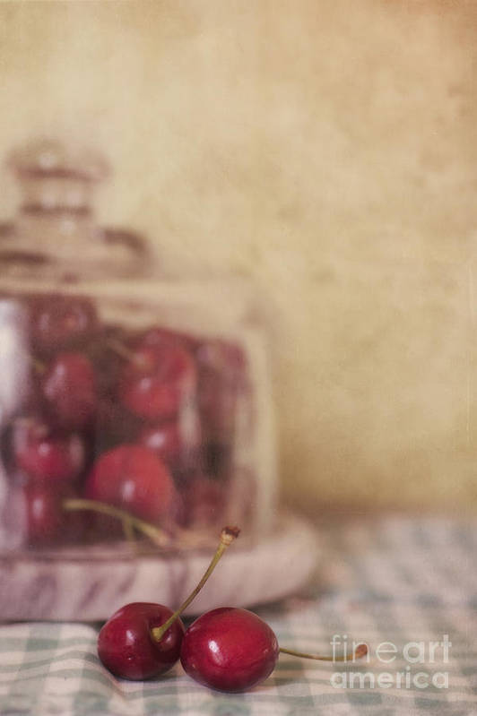 Cherry Poster featuring the photograph Cerise by Priska Wettstein