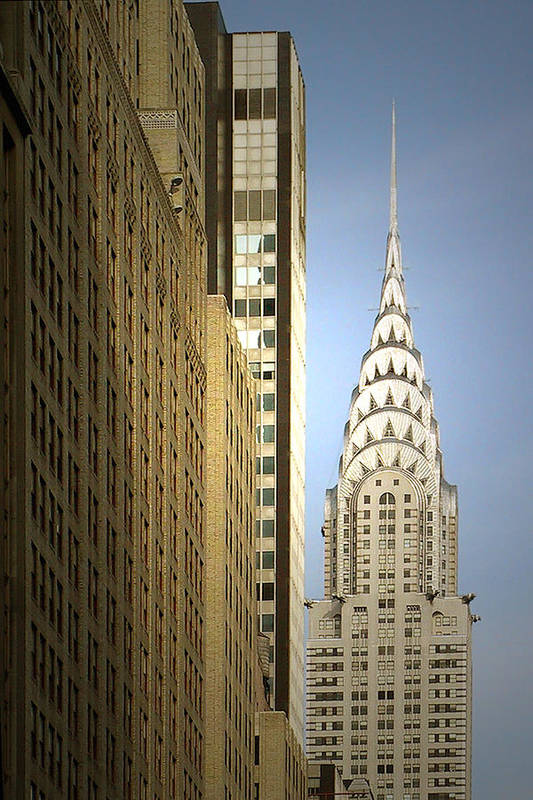 Chrysler Poster featuring the photograph Chrysler Building Nyc - Streamlined Majesty by Christine Till