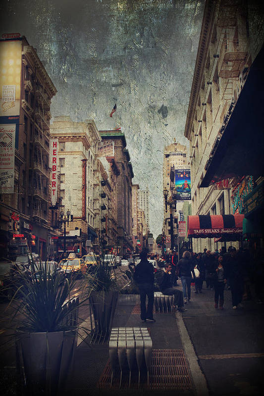 San Francisco Poster featuring the photograph City Sidewalks by Laurie Search