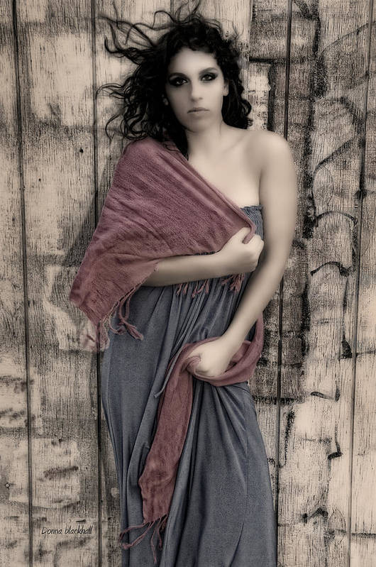 Woman Poster featuring the photograph Concrete Velvet 5 by Donna Blackhall