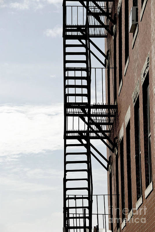 House Poster featuring the photograph Fire Escape In Boston by Elena Elisseeva
