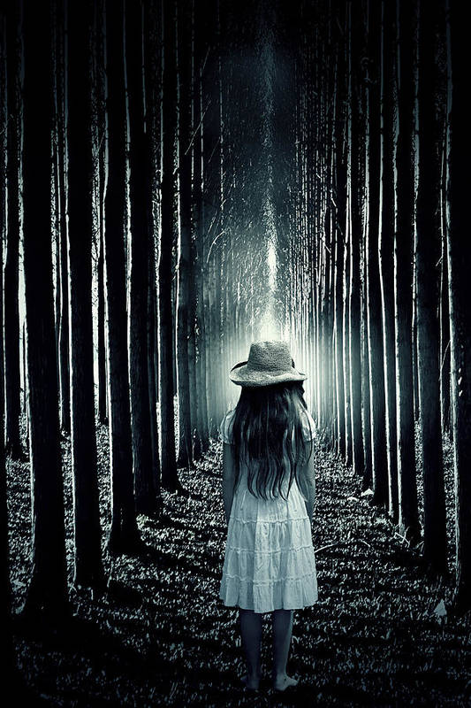 Girl Poster featuring the photograph Girl In The Forest by Joana Kruse