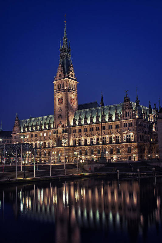 Germany Poster featuring the photograph Hamburg City Hall by Benjamin Matthijs