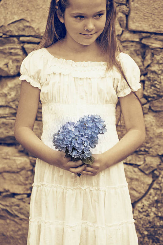 Girl Poster featuring the photograph Hydrangea by Joana Kruse