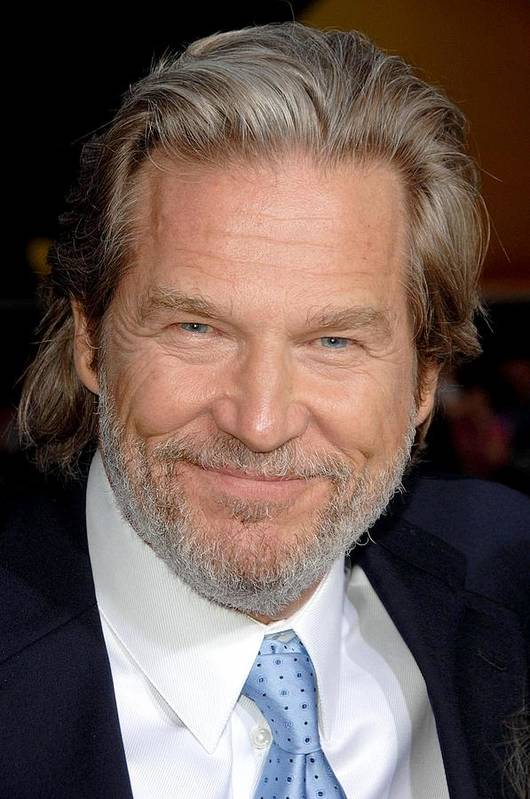 Premiere Ironman Poster featuring the photograph Jeff Bridges At Arrivals For Premiere by Everett