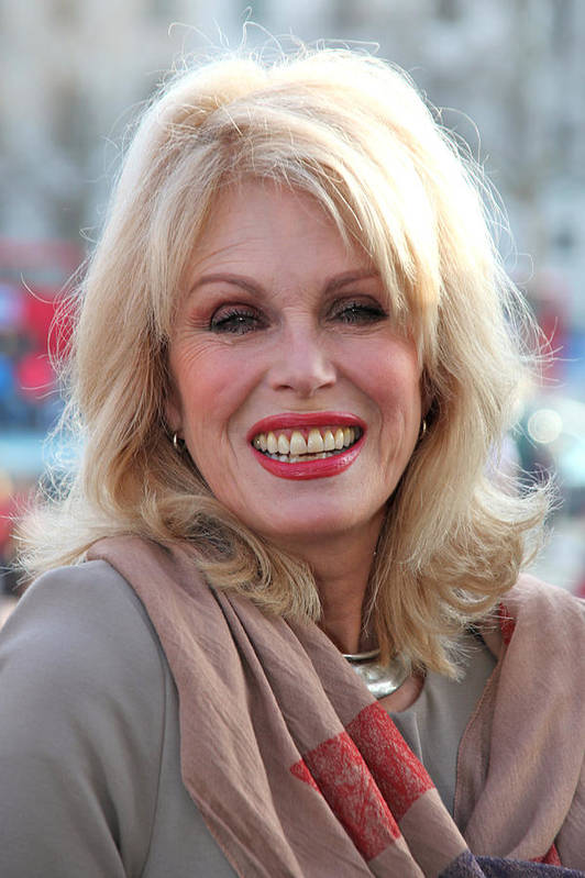 Jezcself Poster featuring the photograph Joanna Lumley 3 by Jez C Self