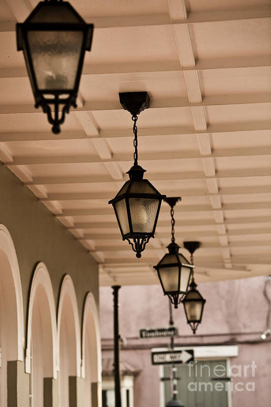 New Orleans Poster featuring the photograph Lamps by Leslie Leda