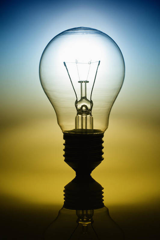 I.q. Poster featuring the photograph Light Bulb by Setsiri Silapasuwanchai