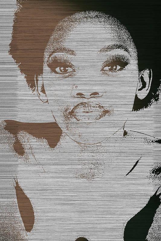 Poster featuring the photograph Natasha Brown by Naxart Studio