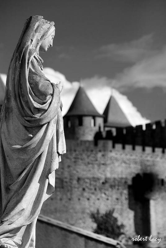 Castle Poster featuring the photograph Notre Dame Carcassonne by Robert Lacy