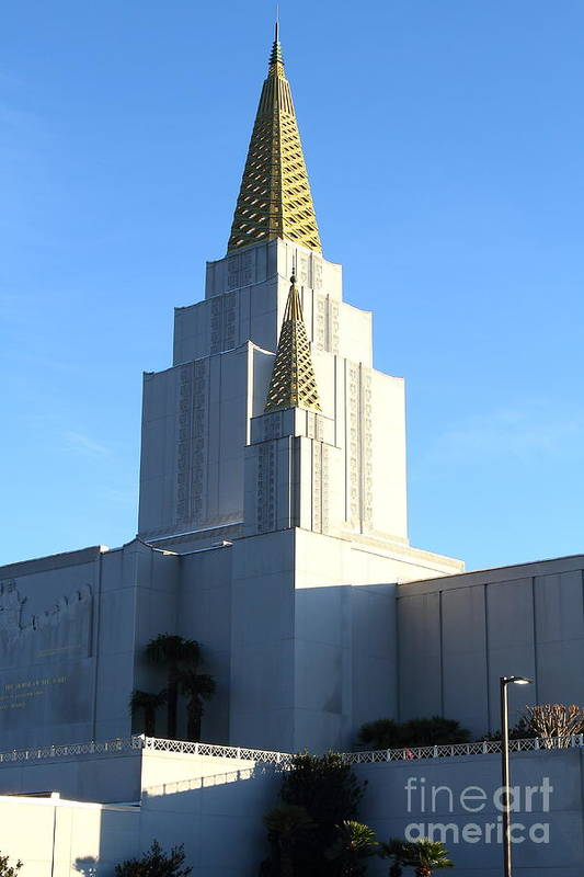 Bayarea Poster featuring the photograph Oakland California Temple . The Church Of Jesus Christ Of Latter-day Saints . 7d11377 by Wingsdomain Art and Photography