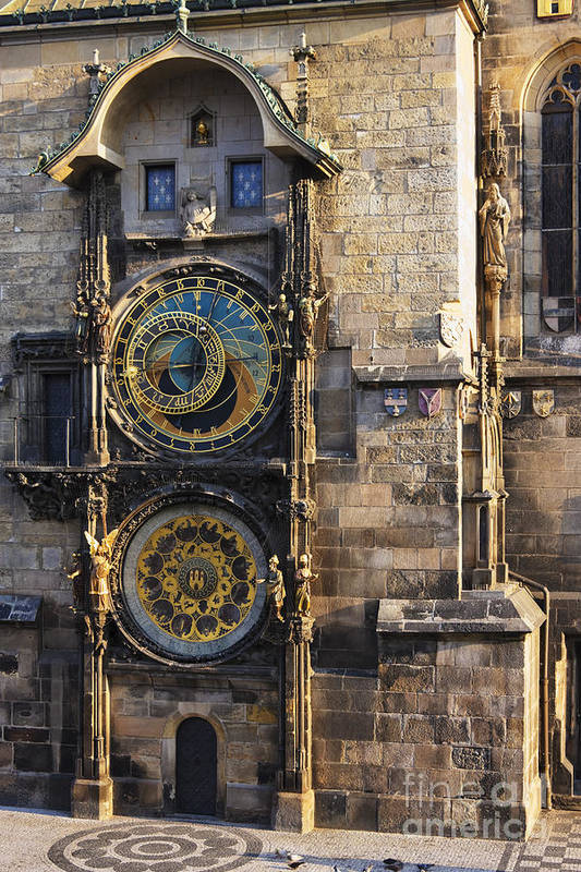 Architectural Detail Poster featuring the photograph Old Town Hall Clock by Jeremy Woodhouse
