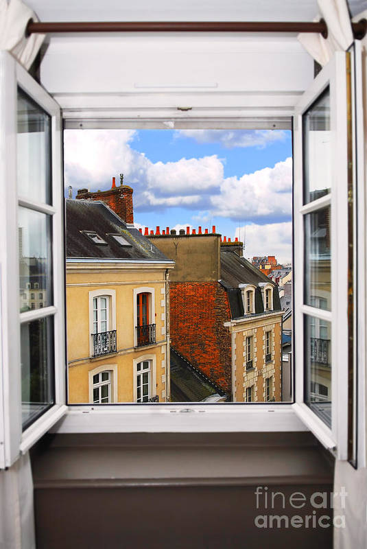 Window Poster featuring the photograph Open Window by Elena Elisseeva