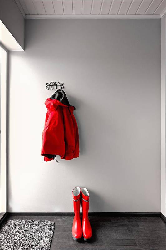 Raincoat Poster featuring the photograph Ready For Rain by Ari Salmela