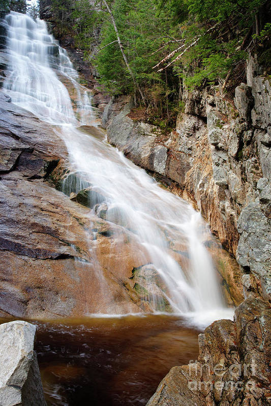 Arethusa-ripley Falls Trail Poster featuring the photograph Ripley Falls - Crawford Notch State Park New Hampshire Usa by Erin Paul Donovan