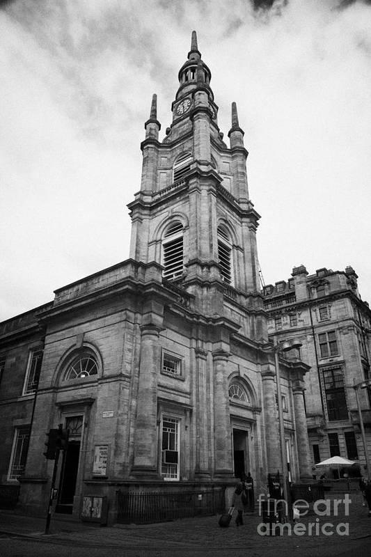 Saint Poster featuring the photograph St Georges-tron Church Nelson Mandela Place Glasgow Scotland Uk by Joe Fox