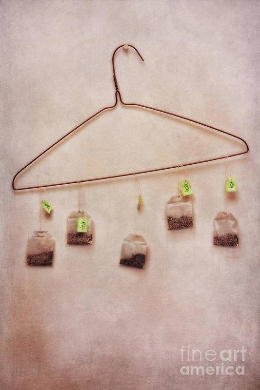 Tea Poster featuring the photograph Tea Bags by Priska Wettstein