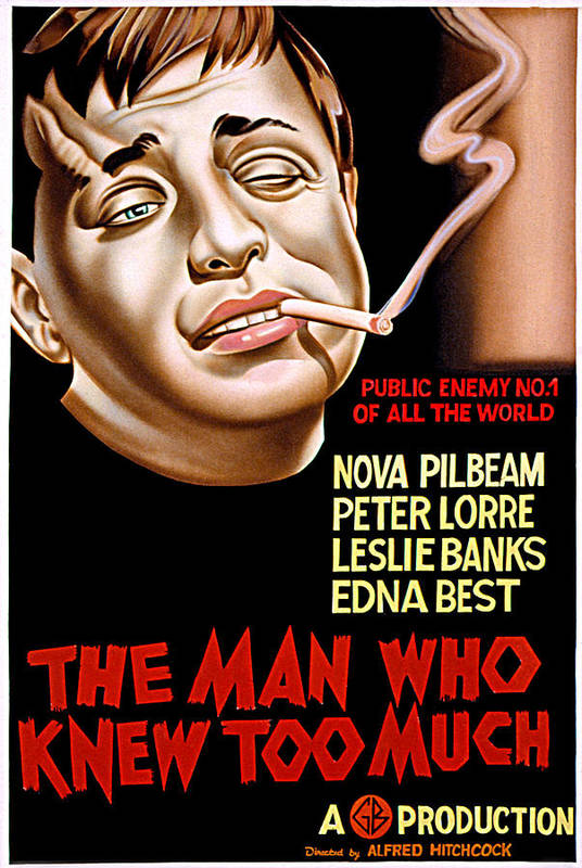 1930s Movies Poster featuring the photograph The Man Who Knew Too Much, Peter Lorre by Everett
