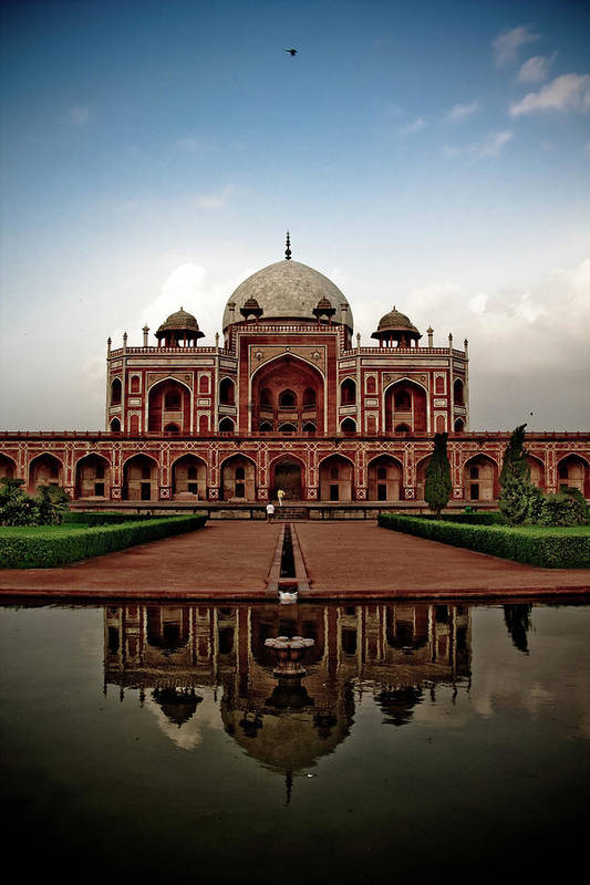 Vertical Poster featuring the photograph Tomb Of Humayun by Kishor Krishnamoorthi