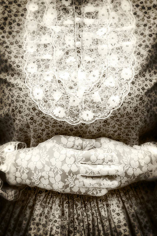 Female Poster featuring the photograph Victorian Hands by Joana Kruse