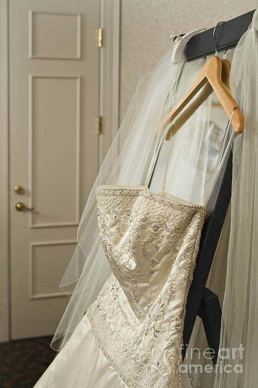 Bedroom Poster featuring the photograph Wedding Dress by Ned Frisk
