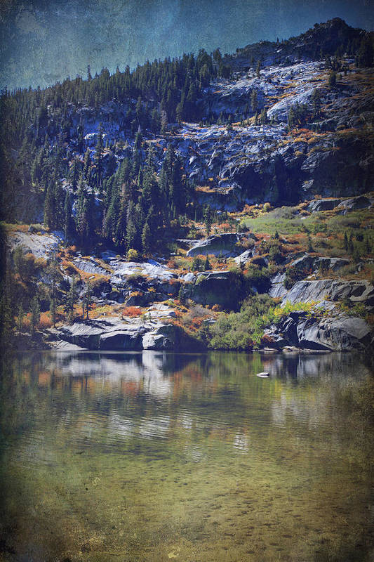Upper Angora Lake Poster featuring the photograph What Lies Before Me by Laurie Search