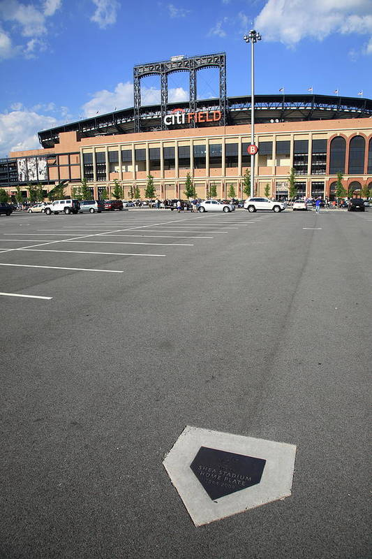 Arena Poster featuring the photograph Citi Field - New York Mets by Frank Romeo