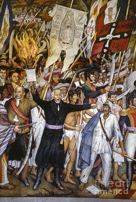 1810 Poster featuring the photograph Mexico: 1810 Revolution by Granger