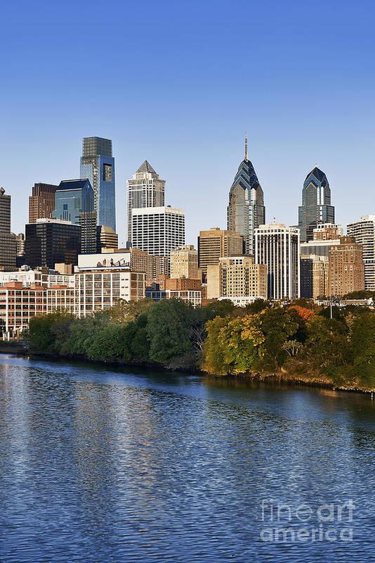Pennsylvania Poster featuring the photograph Philadelphia Skyline by John Greim
