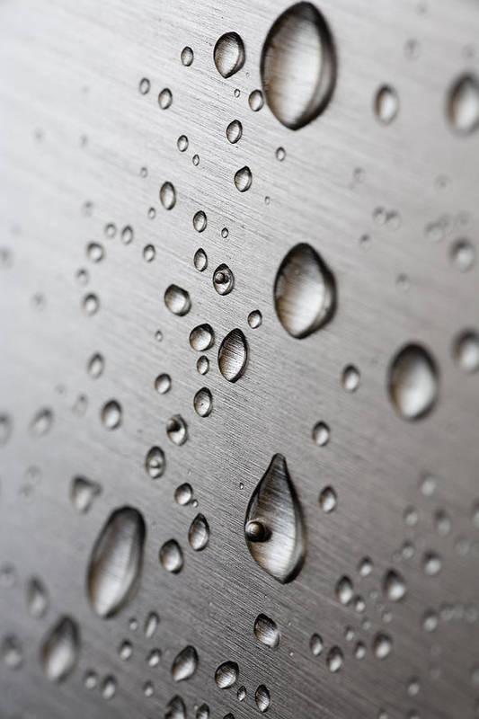 Frank Tschakert Poster featuring the photograph Water Drops by Frank Tschakert