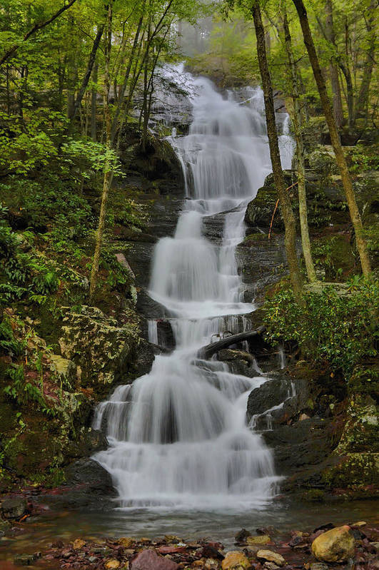 Waterfall Poster featuring the photograph Buttermilk Falls by Stephen Vecchiotti