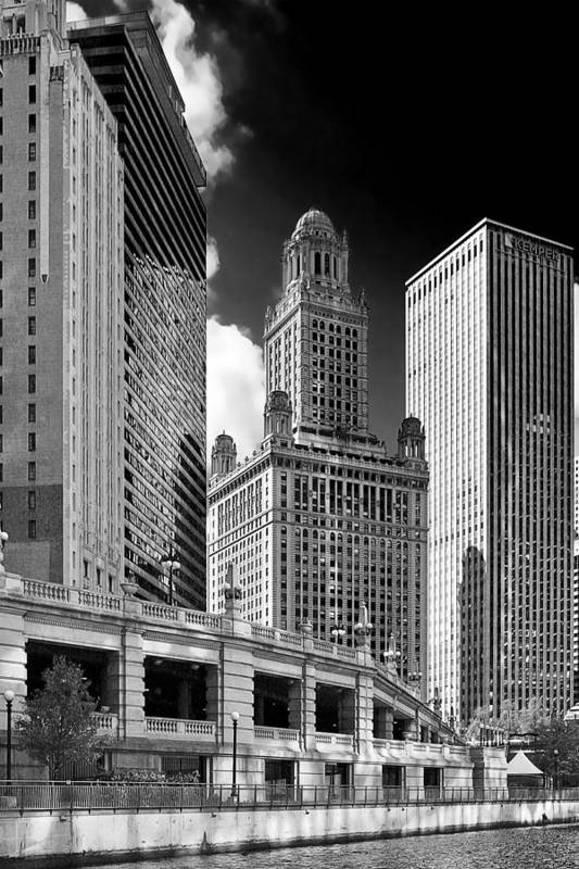 Chicago Poster featuring the photograph 35 East Wacker Chicago - Jewelers Building by Christine Till