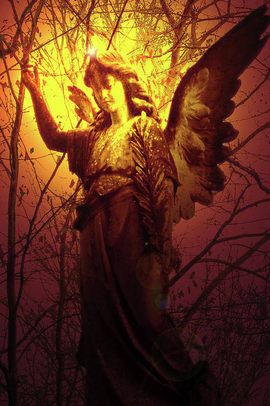 Angel Of Bless Poster featuring the photograph Angel Of Bless No. 03 by Ramon Labusch