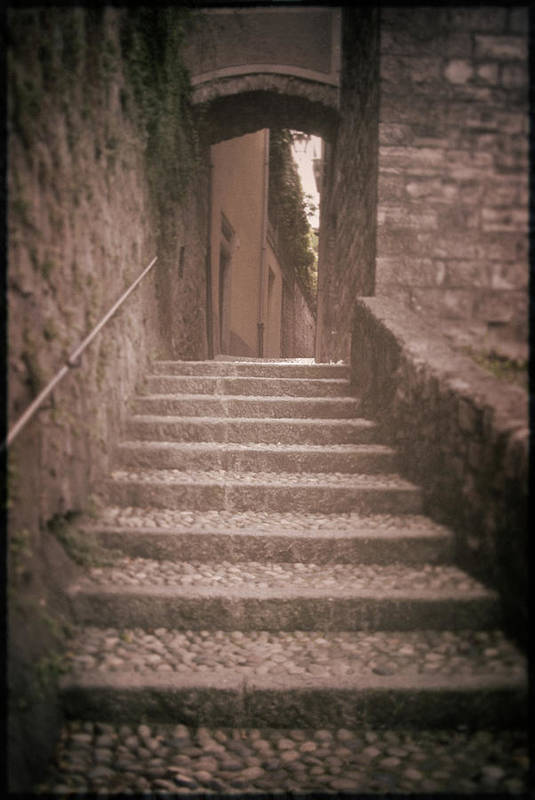 Italy Poster featuring the photograph Bellagio Stairs by Chuck Parsons