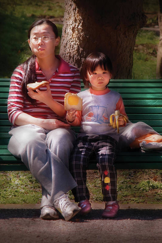 Savad Poster featuring the photograph Children - Balanced Meal by Mike Savad