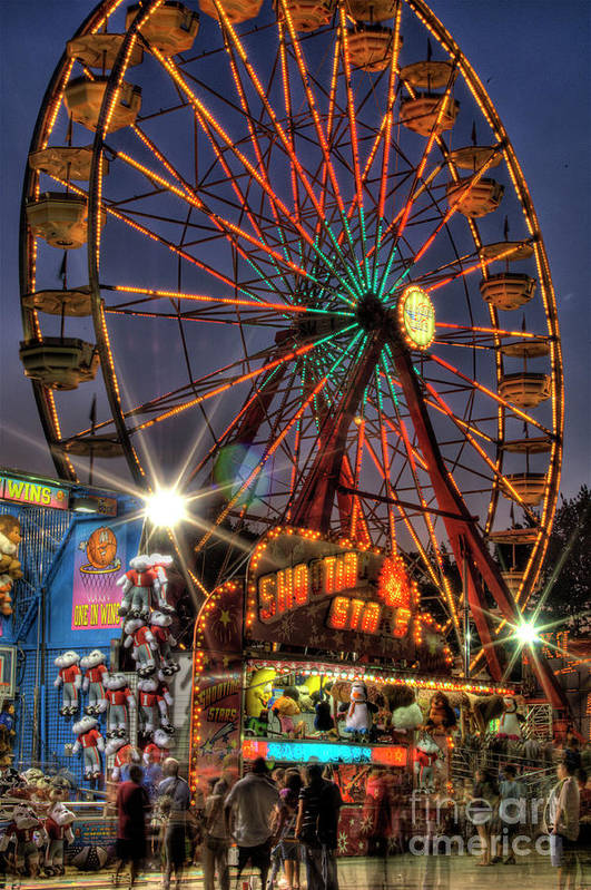 County Fair Ferris Wheel Poster featuring the photograph County Fair Ferris Wheel by Corky Willis Atlanta Photography