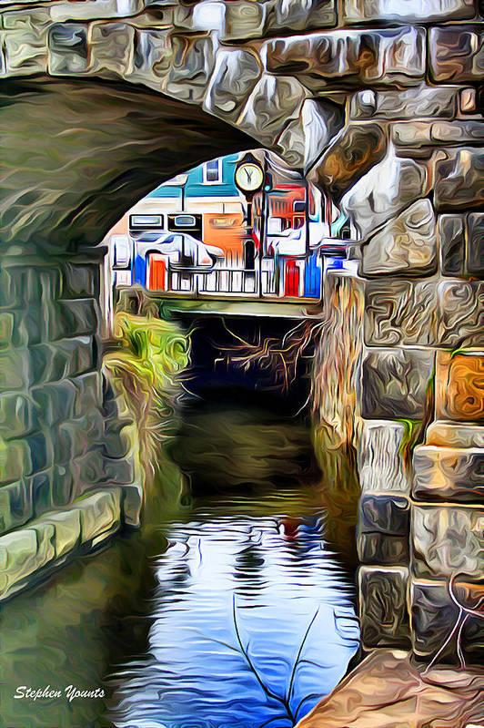 Ellicott Poster featuring the digital art Ellicott City Bridge Arch by Stephen Younts